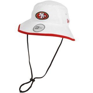 New Era San Francisco 49ers Training Bucket Hat   White