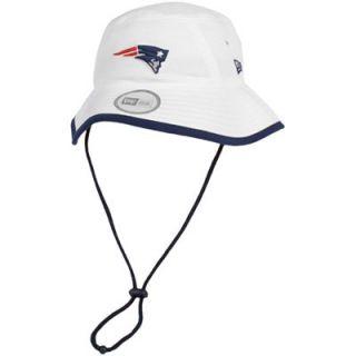 New Era New England Patriots Training Bucket Hat   White