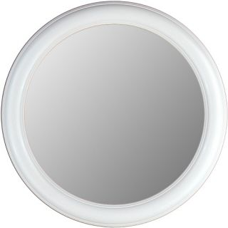 Hitchcock Butterfield Rounds Series Round Wall Mirror   772   Floral White   Wall Mirrors
