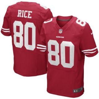 Nike Jerry Rice San Francisco 49ers Retired Elite Jersey   Scarlet