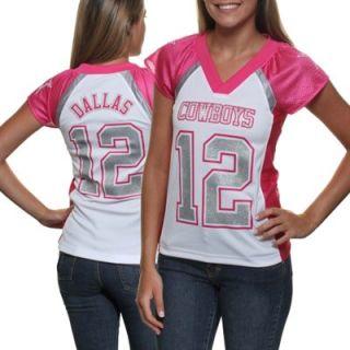 Dallas Cowboys Ladies Fan Fashion Jersey   Pink