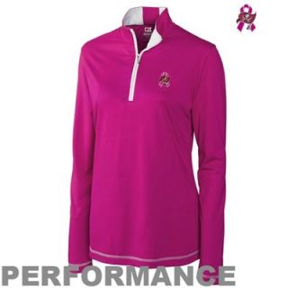 Cutter & Buck Tampa Bay Buccaneers Ladies Breast Cancer Awareness Choice Performance Half Zip Jacket   Pink