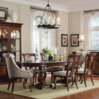 A.R.T. Furniture Margaux 7 piece Double Pedestal Dining Set with Host Chairs   Mahogany   Dining Table Sets