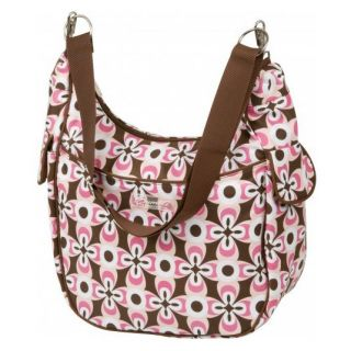 Bumble Collection Chloe Convertible Cruiser Diaper Bag in Pink Geo Flower   Tote Diaper Bags