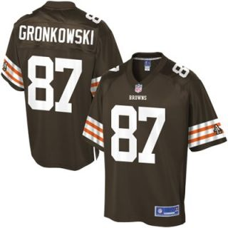Pro Line Mens Cleveland Browns Dan Gronkowski Team Color Jersey