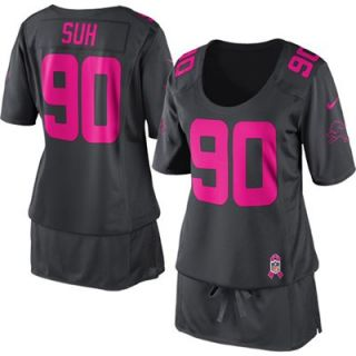 Nike Ndamukong Suh Detroit Lions Womens Breast Cancer Awareness Fashion Jersey   Anthracite