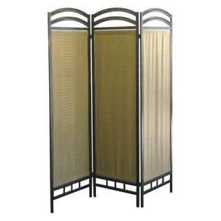 Pewter Frame 3 Panel Room Divider   50W x 70H in.   Room Dividers
