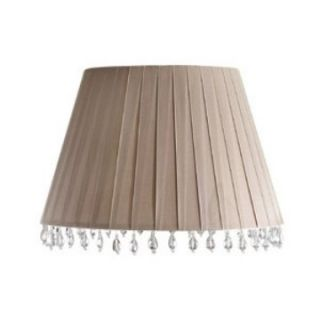 Aida Chalk Pink Layered Ribbon Barrel Lamp Shade   Lamp Shades