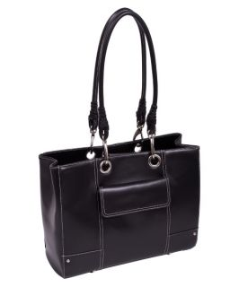 McKleinUSA Serena Black Faux Leather Ladies Business Tote   Black   Briefcases & Attaches