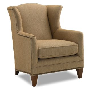 Sam Moore Harvard Wing Chair   Sand   Upholstered Club Chairs