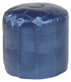 Howard Elliott Tall Pouf Shimmer Ottoman   Ottomans