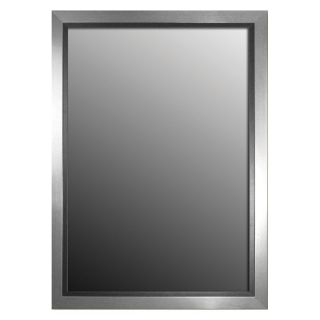 Stainless Silver with Dark Walnut Wall Mirror   Wall Mirrors