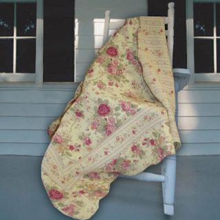 Greenland Home Fashions Antique Rose   50W x 60L in. Quilted Throw   Decorative Throws