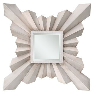 Anna Decorative Square Sunburst Mirror   29.5W x 29.5H   Wall Mirrors
