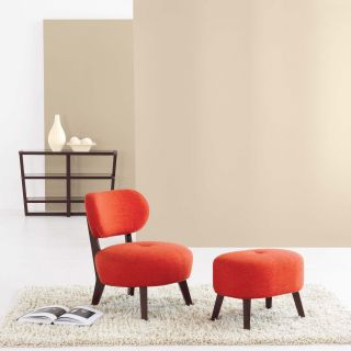 Kamden Lounge Chair with Optional Ottoman Tomato   Upholstered Club Chairs