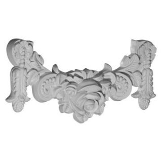 Rose Swag Onlay   14.25W x 7H in.   Wall Decor