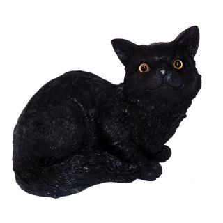 ... Michael Carr Midnight The Black Cat Black Resin Statue Garden Statues  ...