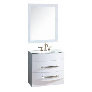 Yosemite Home Decor 31.5 in. Single Bathroom Vanity Set   White   Single Sink Bathroom Vanities