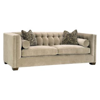 Lazar Tommy Bellisimo Cafe Fabric Loveseat with Pillows   Loveseats