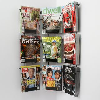 Pocket Corner Magazine Display Rack Commercial Magazine Racks