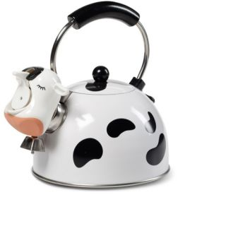 Kamenstein Cow Tea Kettle   Whistling Tea Kettles