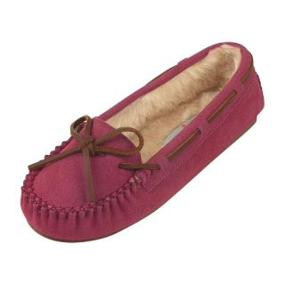 Minnetonka Womens Cally Slipper   Hot Pink Suede   Womens Slippers