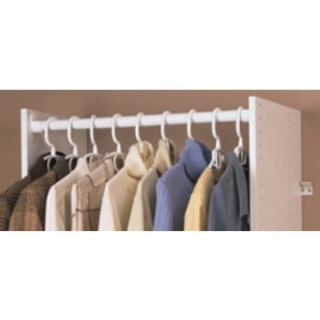 Easy Track Closet Wardrobe Rods with Ends   RR1024   Closet System Components