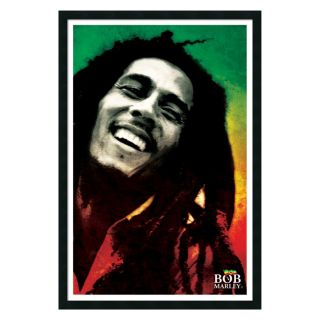 Bob Marley   Paint Framed Wall Art   25.41W x 37.41H in.   Framed Wall Art