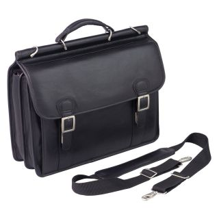 Winn International Top Grain Leather Dowel Rod Laptop Case   Briefcases & Attaches