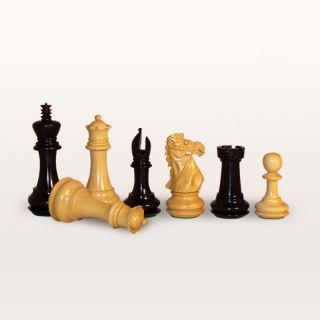 Ebony Bridle Knight Jacques Chessmen   Chess Pieces