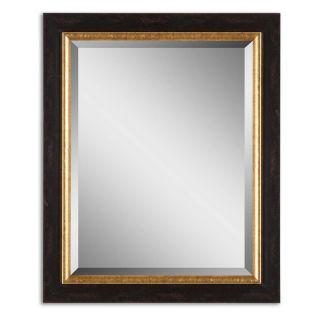 Willcox Distressed Black & Gold Wall Mirror   28W x 34H in.   Wall Mirrors