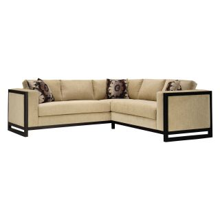 Lazar Macintosh Upholstered Sectional Sofa with Accent Pillows   Sectional Sofas