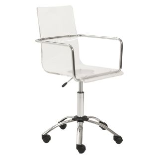Euro Style Chloe Acrylic Office Chair   Desk Chairs
