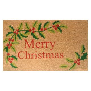 Home and More Merry Christmas Welcome Mat   Outdoor Doormats