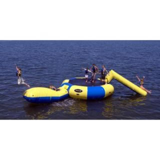 Rave Sports Bongo 15 ft. Water Trampoline with Slide and Launch   Water Trampolines