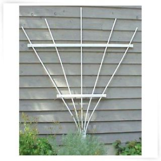 Dura Trel Wellington 6.25 ft. Vinyl Wall Trellis   White   Trellises