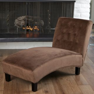 Danielle Tufted Indoor Chaise Lounge   Chocolate Brown   Indoor Chaise Lounges