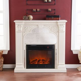 Luxembourg Ivory Electric Fireplace   Electric Fireplaces