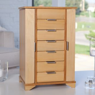 Ravella Large Wooden Jewelry Box   Maple   Womens Jewelry Boxes