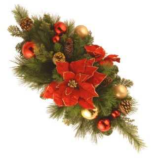 30 in. Decorative Collection Home For the Holidays Centerpiece   Wreaths