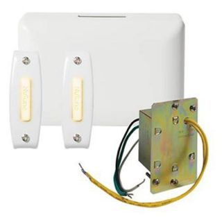 Nutone Door Chime with 2 Lighted Pushbuttons and Junction Box Transformer   Doorbells