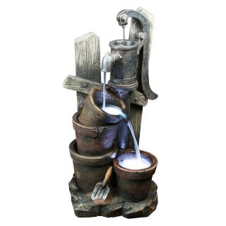 Yosemite Home Decor Two Bucket Water Well Fountain   Fountains