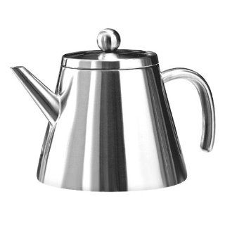 Tchibo Teekanne aus doppelwandigem Edelstahl 1, 1L Küche & Haushalt