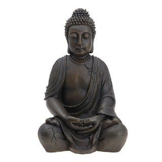 Buddha Figur Statue sitzend Indonesien Antik Stil 51cm Küche & Haushalt