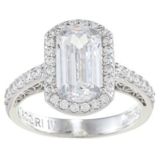 Tacori IV Cubic Zirconia Epiphany Emerald Cut Ring Tacori Designer Rings