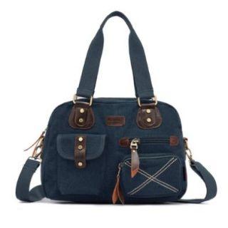 Smarstar Canvas Damentasche Modische Female Handtasche M?dchen Einzel Schulter?Cross Body Tasche mit Durable Strap   Blau: Schuhe & Handtaschen