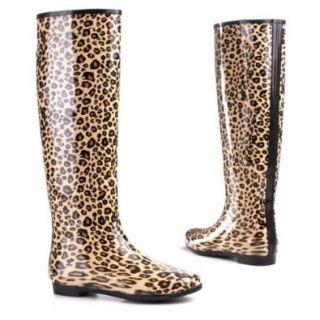 Damen Schuhe, STIEFEL, WARM GUMMISTIEFEL IN LEOPARD LOOK, 4674, Gummi, Leo, Gr 41 Schuhe & Handtaschen