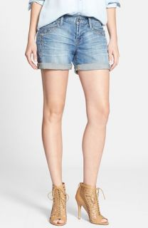 Lucky Brand Laguna Embroidered Denim Shorts (Stop Ahead)
