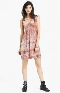 Free People Print Crushed Velvet Dress