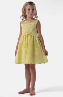 Us Angels Daisy Illusion Neck Sleeveless Dress (Little Girls & Big Girls)